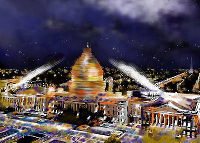 Digital Art - United States Capitol by Carol Tsiatsios
