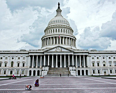 Art Print featuring the photograph United States Capitol by Suzanne Stout