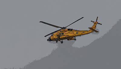 Photograph - United States Coast Guard Helicopter by Brian MacLean