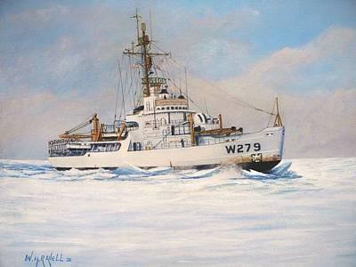 Iceberg Painting - United States Coast Guard Icebreaker Eastwind by William H RaVell III