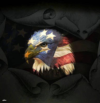 Asleep Mixed Media - United States Eagle by G Berry