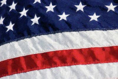 Photograph - United States Flag Painting by Jill Lang
