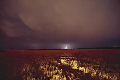 United States, Kansas, Lightning Print by Keenpress