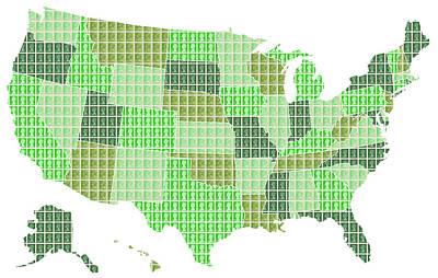 United States Map - Green Original