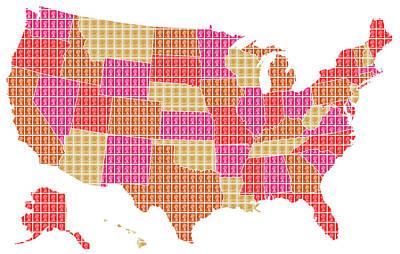 United States Map - Red Original
