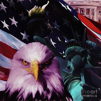 Statue Of Liberty Painting - United States Of America 032 by Gull G