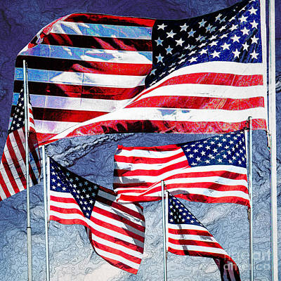 American Flag Photograph - 11086 Flags Of The United States Of America by Colin Hunt