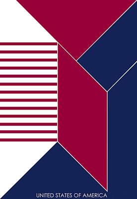 United States Of America IIi - Text Art Print by Asbjorn Lonvig
