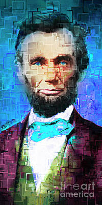 United States President Abraham Lincoln 20170325 Long Art Print by Wingsdomain Art and Photography
