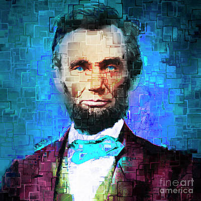 United States President Abraham Lincoln 20170325 Square Art Print by Wingsdomain Art and Photography