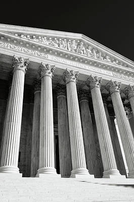 Law Photograph - United States Supreme Court Building by Brandon Bourdages