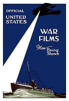 Painting - United States War Films Now Being Shown by War Is Hell Store