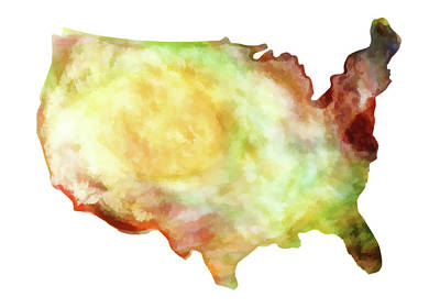 Photograph - United States Watercolor II by Athena Mckinzie