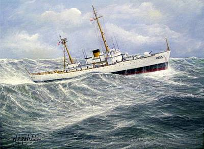 United Statescoast Guard Cutter Ingham Art Print by William H RaVell III