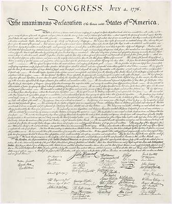 United Statesthe Declaration Of Independence Art Print by MotionAge Designs