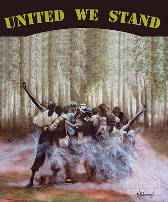 United We Stand Art Print by Marcella Muhammad