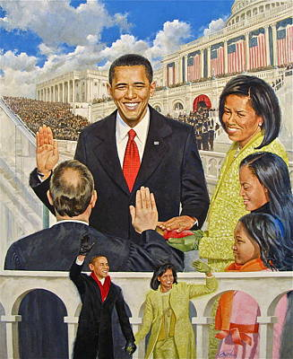 Michelle Obama Mixed Media - Unity by Cliff Spohn