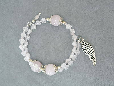 Jewelry - Unity In Trinity Tm Gratitude Bracelet Of Moonstone And Rose Quartz by Michele Myers