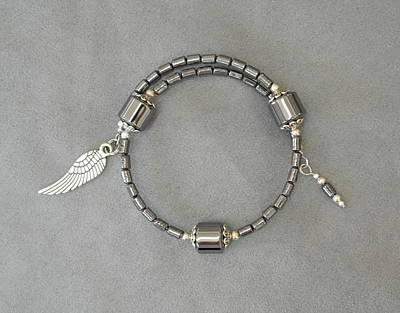 Jewelry - Unity In Trinity Tm Gratitude Bracelet Of Hematite by Michele Myers