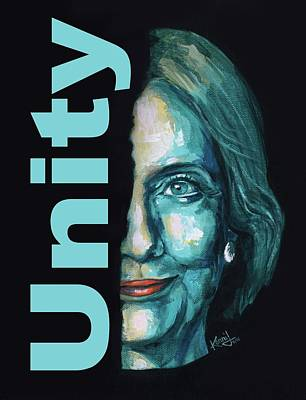 Hillary Clinton Painting - Unity by Konni Jensen