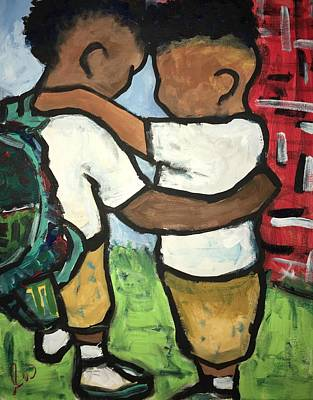 Unity Painting - Unity Prayer 2  by Luther Wright