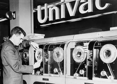 Univac Was The First Computer Designed Art Print by Everett