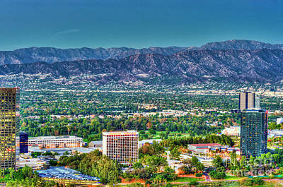 Photograph - Universal City Mountain View by David Zanzinger