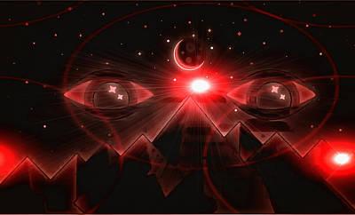 Digital Art - Universal Eyes by Mario Carini