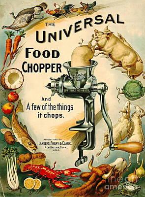 Universal Food Chopper 1897 Art Print