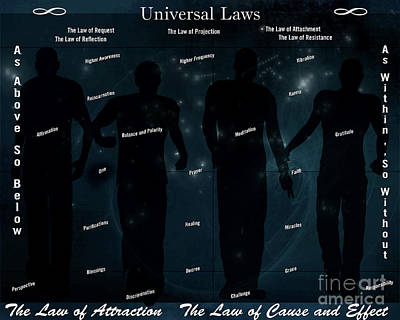 Negative Effect Digital Art - Universal Laws by Lance Sheridan-Peel