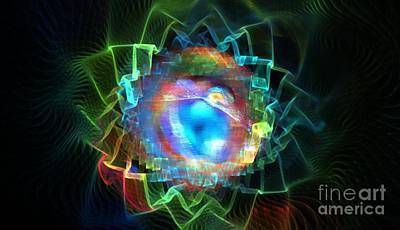 Chakra Rainbow Digital Art - Universal Petals by Kim Sy Ok