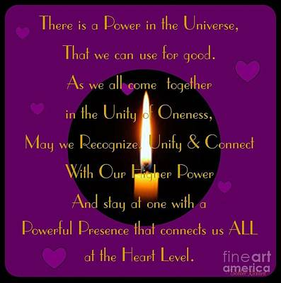 Inspired By Love Digital Art - Universal Power by Bobbee Rickard