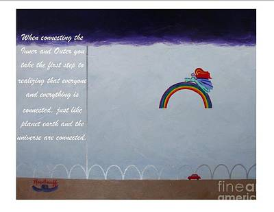 Painting - Universal - Spiritual Art Poster With A Message  by Pat Heydlauff