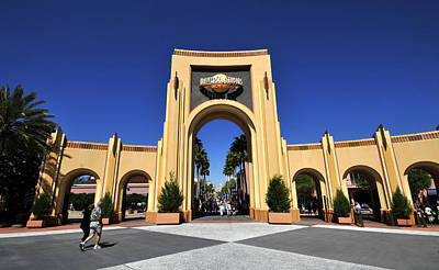 Photograph - Universal Studios Florida Gateway by David Lee Thompson
