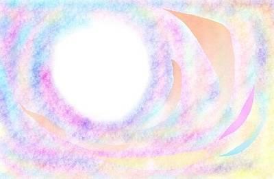 Drawing - Universal Swirl - Consciousness by Julia Woodman
