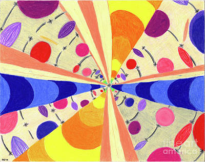 Many Colors Drawing - Universals by Kim Sy Ok