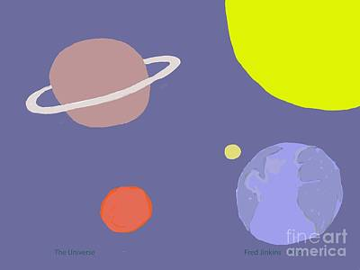 Universal System Digital Art - Universe by Fred Jinkins