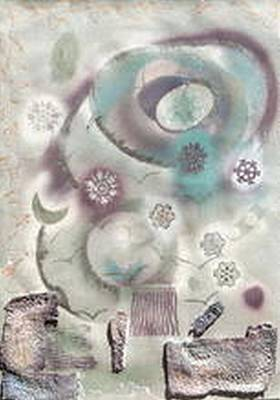 Painting - Universe In Aqua by Judith Kerrigan Ribbens
