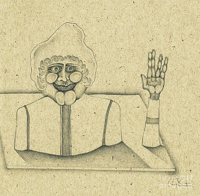 Drawing - Universi Dominici Gregis by Casey Burton