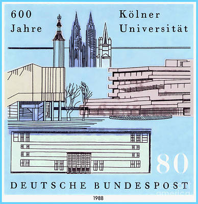 Editoria Painting - Universities In Germany by Lanjee Chee