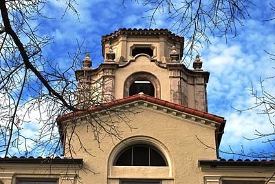 Photograph - University Architecture - Mason Hall - Pomona College - Branches Framing by Matt Harang