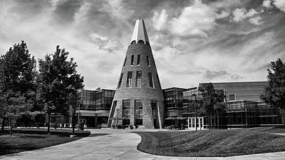 Southern Indiana Photograph - University Center B W by Sandy Keeton