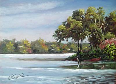 Painting - University Lake City Park Baton Rouge by CB Hume