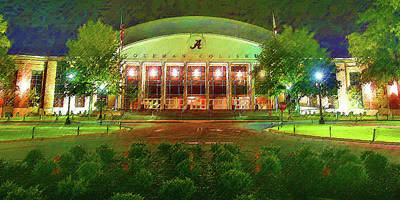 Mixed Media - University Of Alabama Coleman Coliseum by DJ Fessenden