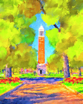 Painting - Denny Chimes On The Quad by Mark Tisdale