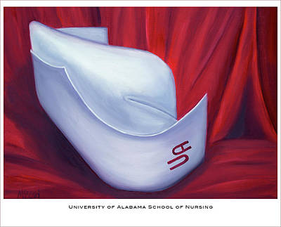 Painting - University Of Alabama School Of Nursing by Marlyn Boyd