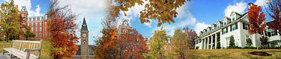 Photograph - University Of Arkansas - Fayetteville Autumn Collage Panoramic by Gregory Ballos