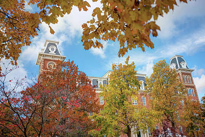 Photograph - University Of Arkansas Razorback Campus During Autumn by Gregory Ballos