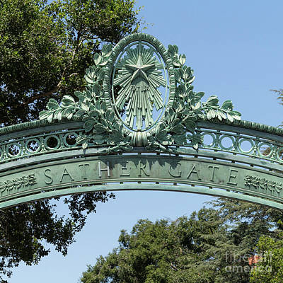 Photograph - University Of California Berkeley Historic Sather Gate Dsc4074 Square by Wingsdomain Art and Photography