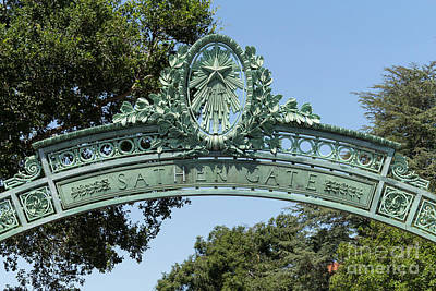 Photograph - University Of California Berkeley Historic Sather Gate Dsc4074 by Wingsdomain Art and Photography